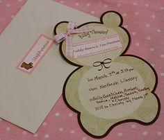Teddy Bears and Tea Parties Shower Invitation