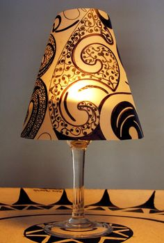 another version of the homemade wine glass shade. LOVE it!