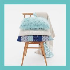 Primark: Homeware - Spring 15 blue and cream cushions and throws