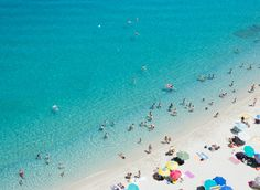 Tropea Beach Tropea, Italy outdoor Beach water people blue Sea Ocean sand group underwater wave caribbean crowd day shore crowded sunny sandy