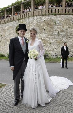 Georg Friedrich Ferdinand Prince of Prussia and Princess Sophie of Isenburg  wedding in the Friedenskirche Potsdam on 27 Aug 2011 in Potsdam, Germany.