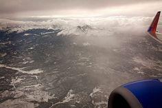 Seeing the World Through an Airplane Window - Rocky Mountains en route to Salt Lake City, Utah, USA