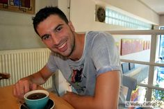 Marco Falaschi with a cup of #coffee! #volleyball #volleyballplayer #siatkówka #Falaschi #GKSKatowice