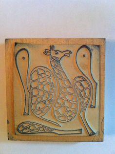 French vintage rubber stampsgirafe school by Papeteriedeparis, $15.00