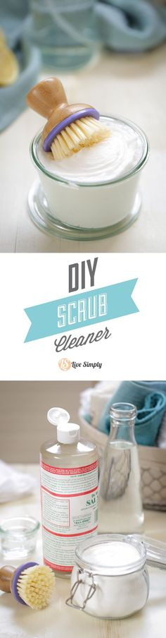 This stuff is AMAZING!! Three simple ingredients pack a ton of cleaning and scrubbing action. This homemade soft-scrub-like cleaner is inexpensive and takes only seconds to create. Plus, it lasts for months. Never going back to the store-bought alternative.