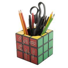 Spinning-Hat-Rubiks-Cube-Desk-Tidy, organizador-cubo-magico, cubo-magico, por-que-nao-pensei-nisso
