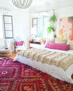 Ibiza slaapkamer met Perzisch tapijt