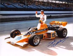 "Danny ""Spike"" Gehlhausen after qualifying for his first Indianapolis 500 in 1976"