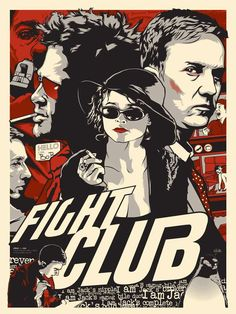 Fight Club is not only a mystery movie, but also a must watch movie for young generation. And here we are with must downoad Fight Club Poster collection. Best Movie Posters, Cinema Posters, Movie Poster Art, Art Posters, Cinema Cinema, Poster Drawing, Horror Posters, Club Poster, Poster S