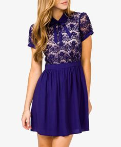 Contrast Lace Dress   FOREVER21 - 2025100889