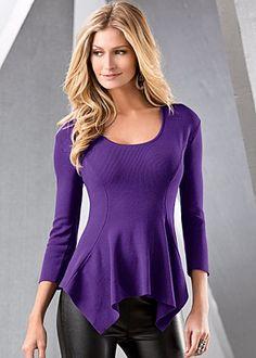 Peplum Sweater | Ann Taylor | Purple | Pinterest | Peplum sweater