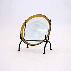 Wrought Iron Platter Inches High x Inches Wide. Handmade and bronze color. Wrought Iron Paint, Easel, Platter, Bronze, Display Stands, Posts, Mirror, Chair, Handmade