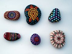 Dotrageous: Dot painted rocks by Lisa Miller