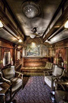Train Passenger car interior