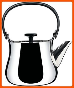 """Alessi """"Cha"""" Kettle/Teapot in 18/10 Stainless Steel Mirror Polished Handle And Knob in Thermoplastic Resin Magnetic Steel Bottom Suitable For induction Cooking, Silver - Kitchen gadgets (*Amazon Partner-Link)"""