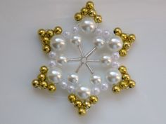 Snowflake with gold