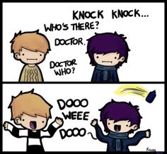Sherlock/Doctor Who. I just started watching the first episode of Sherlock. I also plan on beginning Super Natural once if get further into Sherlock so I can be a Superwholock. The Doctor, Watch Doctor, Doctor Who Jokes, Doctor Humor, Haha, Mrs Hudson, Fandoms, Fan Art, To Infinity And Beyond