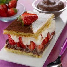 Mille-feuille choco-fraises © Fraises de plougastel