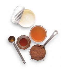 DIY Color Booster for Brunettes  Whip 1/2 cup cocoa powder, 1/2 cup plain yogurt, 1 teaspoon honey, and 1 teaspoon apple-cider vinegar into a paste. Shampoo hair, squeeze out the water, and apply the mask. Keep it on for 2 to 3 minutes. Drape a towel around your neck to prevent the mask from dripping, as it may stain skin temporarily. Rinse, then style as usual.