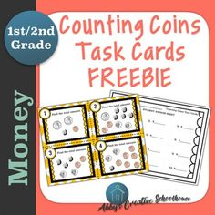 FREE! TWELVE COUNTING COINS TASK CARDSThis is a free sampler of counting coins task cards.  If you like these, then you will love my full set of differentiated counting coins task cards!Contents: 12 Full Color Task Cards  Blackline Masters Student Answer Sheet Answer KeyTask Card Details: Cards  1 - 4:  Like coins grouped; Less than one dollar Cards  5 - 8:  Coins randomly placed; Less than one dollar Cards 9 - 12: Like coins grouped; Greater than one dollarI hope you enjoy this free…