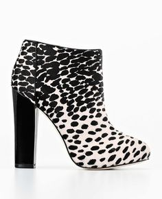 spotted haircalf booties