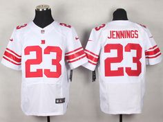 Men's NFL New York Giants #23 Jennings White Elite Jersey