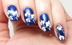 Blue Blossom Nails for Blue Friday #14