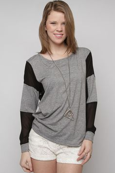 Sheer Perfection Top. $30 @The Lace Boutique
