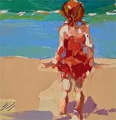 Beach Tot, painting by artist Sally Cummings Shisler