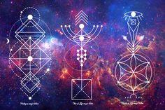 Sacred  Geometry. Magic totem by Aleksandra Slowik on @creativemarket