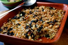Beet Greens, Green Garlic and Barley Gratin by Martha Rose Shulman