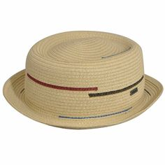 8f08cce43c1 Kangol Men s Interrupted Stripe Dove Porkpie Hat
