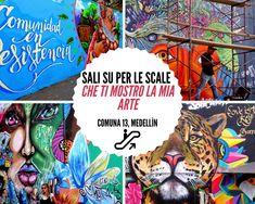 Sali su per le scale che ti mostro la mia Arte Street Art, Comic Books, Comics, Murals, Colombia, Cartoons, Cartoons, Comic, Comic Book