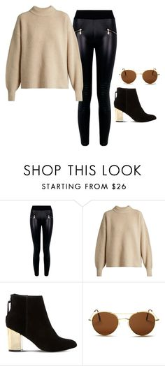 """""""Untitled #781"""" by yurithisandthat ❤ liked on Polyvore featuring Boohoo, The Row, Steve Madden and Illesteva"""