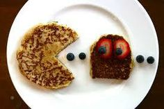 PAC-MAN pancakes, lifted from Namco Funscape's Facebook page.