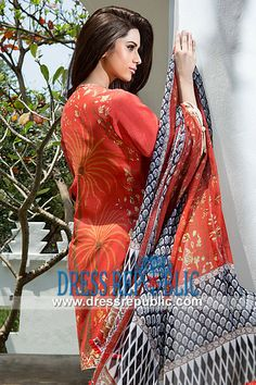Mahnoush Embroidered Lawn Suits 2014 by Arjumand Amin   by www.dressrepublic.com