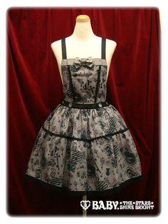Alice and the Pirates - Skirt - Lock the PANDORA's Memories Salopette Skirt /// ¥17,640 /// Waist:  66-88 Length:  45