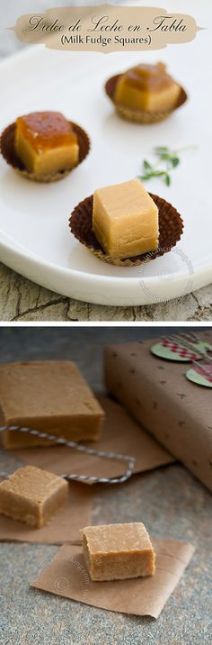 Dulce de Leche en Tabla (Dominican Milk Fudge Squares):  Delicious & simple fudgelike squares made from sweetened milk. This traditional candy, similar to Mexican Jamoncillo, is enjoyed by adults and children alike!