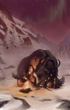 Mythologie nordique - Odin taking a break from travel to Midgard . A giant yule goat shelters him from snow and wind Lagertha, Ragnar Lothbrok, Statues, Yule Goat, Norse Pagan, Wiccan, Viking Culture, Religion, Celtic Mythology