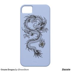 Ornate Dragon Case-Mate iPhone Case - This design will transfer to other cases. Just customize it on the Zazzle site. Check Zazzle for Sales - Diy Phone Case, 5s Cases, Iphone Phone Cases, Mobile Phone Cases, Iphone Case Covers, Cute Cases, Cute Phone Cases, Aesthetic Phone Case, Airpod Case