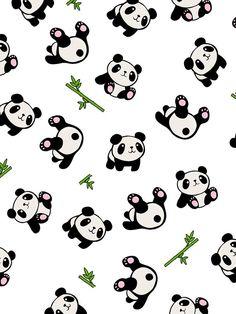 'Panda pattern' iPhone Case by ValentinaHramov