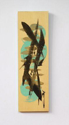 Abstract fish art Mini abstract art mini by ArtGalleryReina