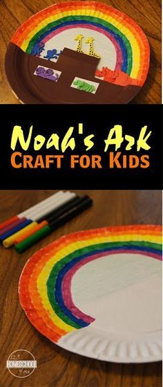 Noahs Ark Craft for Kids - super cute bible craft for sunday school lessons for preschool, kindergarten, 1st grade, 2nd grade, and 3rd grade kids