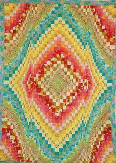 Bargello Quilt top by Becky Botello