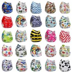 Nappy Cover Wrap Adjustable Washable Reusable Cloth Diaper Pocket Baby I9992 One Size Fits 6.6-33lbs Cotton Blend China