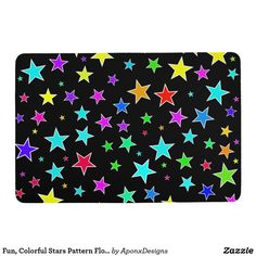 Zazzle's Fun Colorful Stars Pattern floor mats are a great way to accentuate you home décor & stay comfortable while standing in your bathroom, kitchen, or other room! Floor Patterns, Star Patterns, Floor Mats, Kids Rugs, Indoor, Colorful, Flooring, Stars, Fun