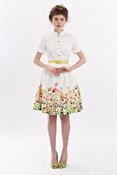 Rose garden dress by Mrs Pomeranz por mrspomeranz en Etsy, £349.00
