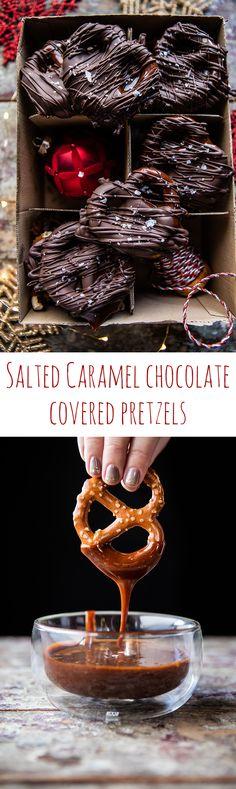 Salted Caramel Chocolate Covered Pretzels   halfbakedharvest.com @Half Baked Harvest
