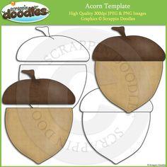 Acorn Template Clip Art Pumpkin Outline, Png Format, Acorn, Line Art, Original Artwork, Card Making, Doodles, Paper Crafts, College