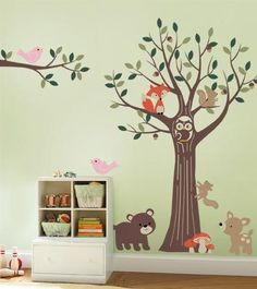 Our forest friends wall decals will transform your nursery into a woodland…